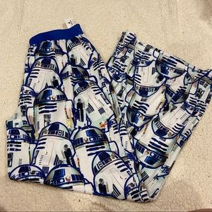 NWT star wars r2d2 pajamas pants size medium